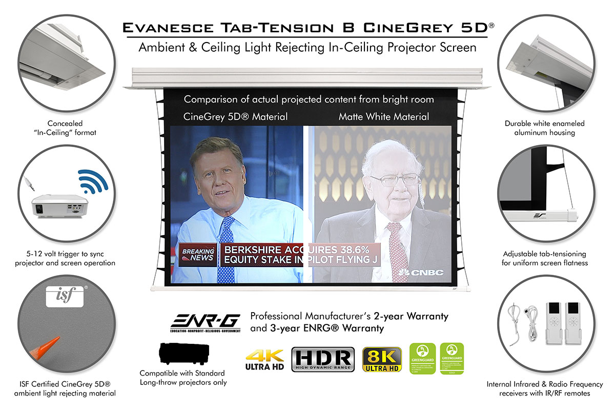 Evanesce Tab-Tension B CineGrey 5D® Series Features