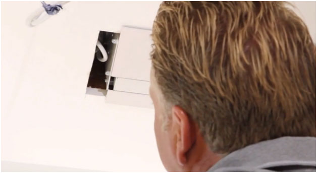 Measure and cut the ceiling installation space