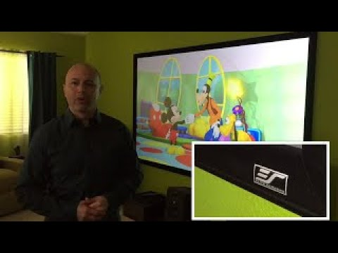 """135"""" Ceiling & Ambient Light Rejection Screen – CineGrey 3D® with LG 4K Projector"""