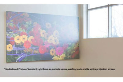 matte white material projector screen