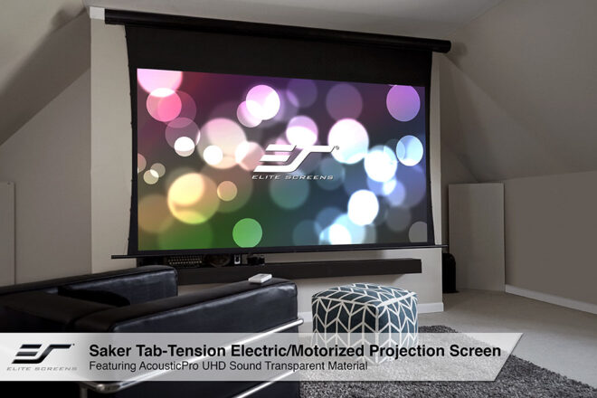 Saker Tab-Tensioned Acoustically Transparent UHD