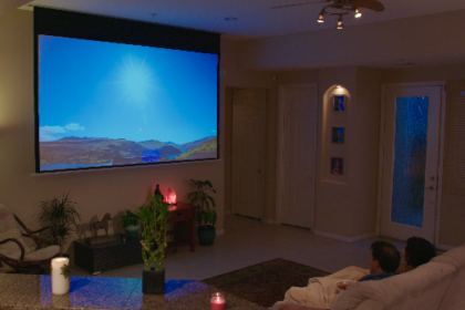 In-Ceiling Projector Screen