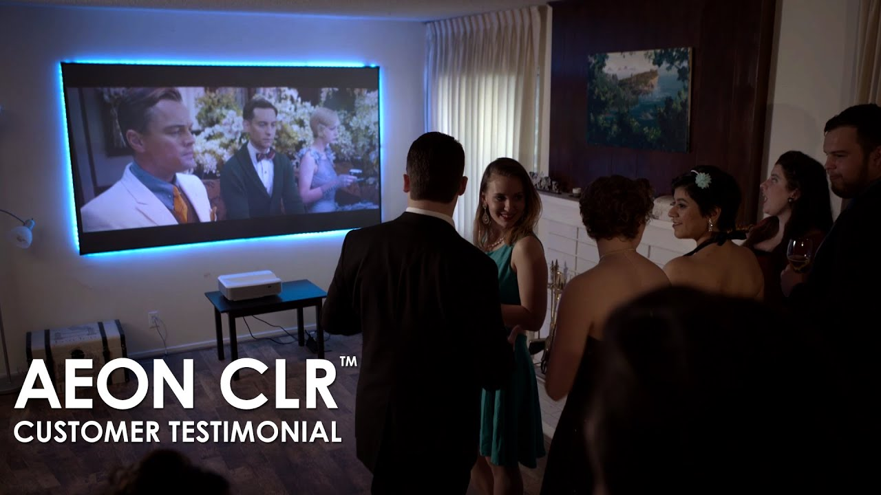 AEON CLR Ultra Short Throw Projection Screen Customer Testimonial