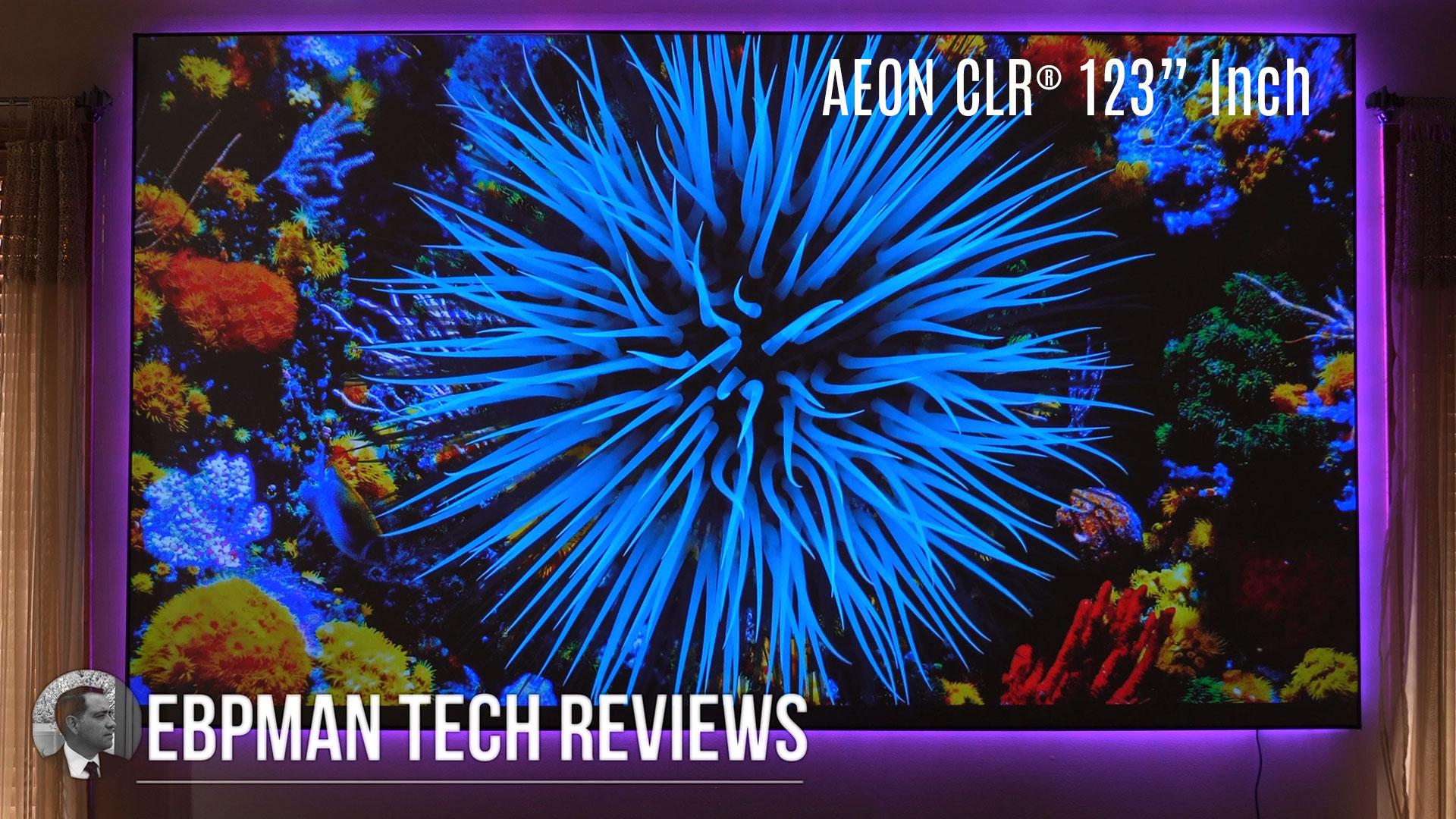 EBPMan Reviews the Elite Screens Aeon CLR® Series - 123 inch ALR/CLR Projector Screen