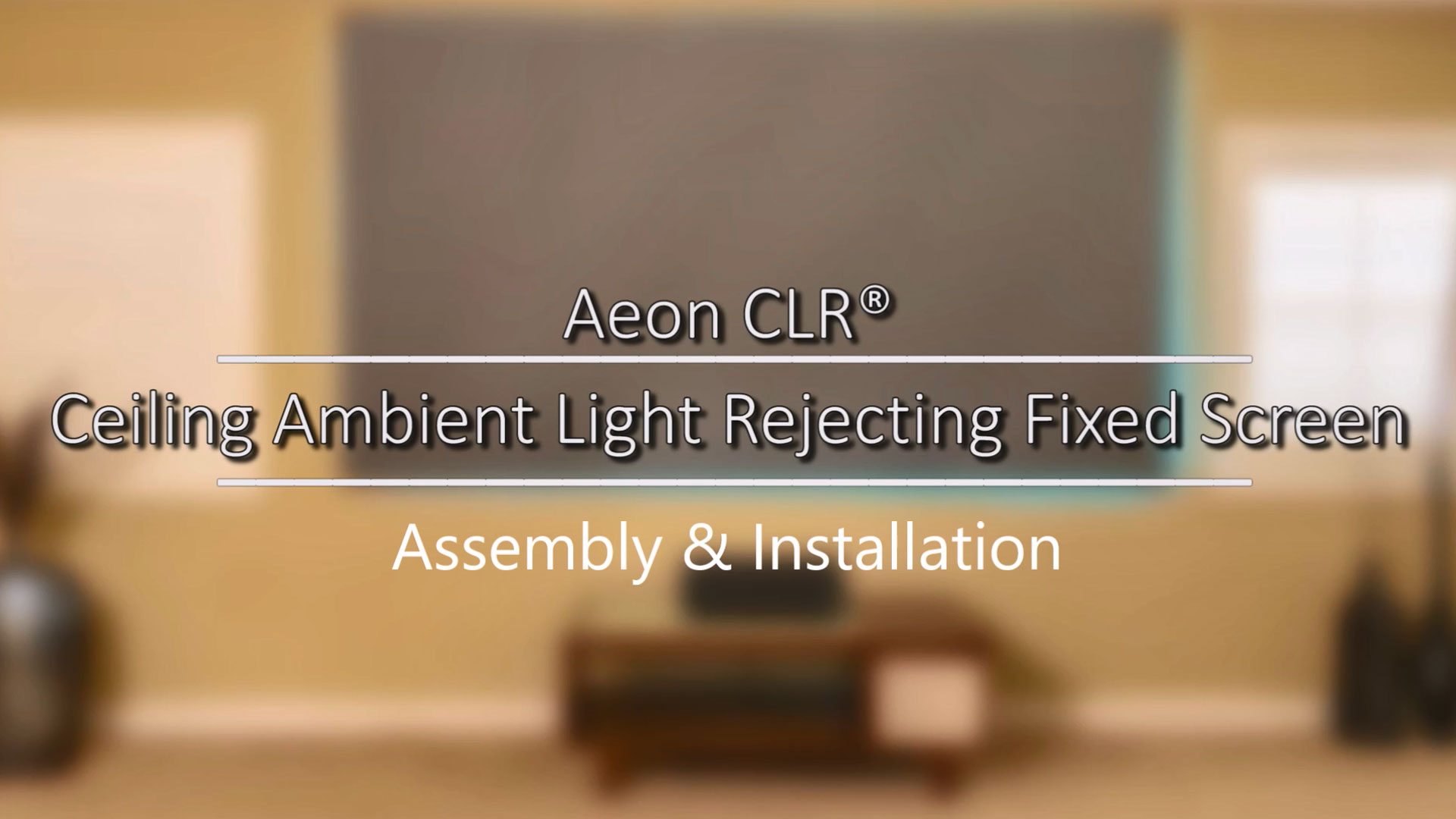 Aeon CLR® Series - CLR Fixed Frame Screen | Assembly & Installation | M Type Version