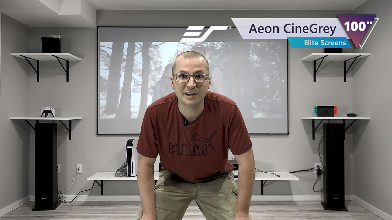 Aeon Series with CineGrey Material Review by Dave\\\'s Tech Reviews - Fixed Frame High Contrast Screen