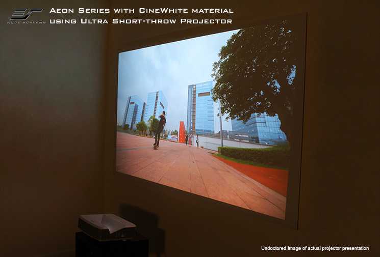 Aeon with CineWhite® Material using an Ultra Short Throw Projector