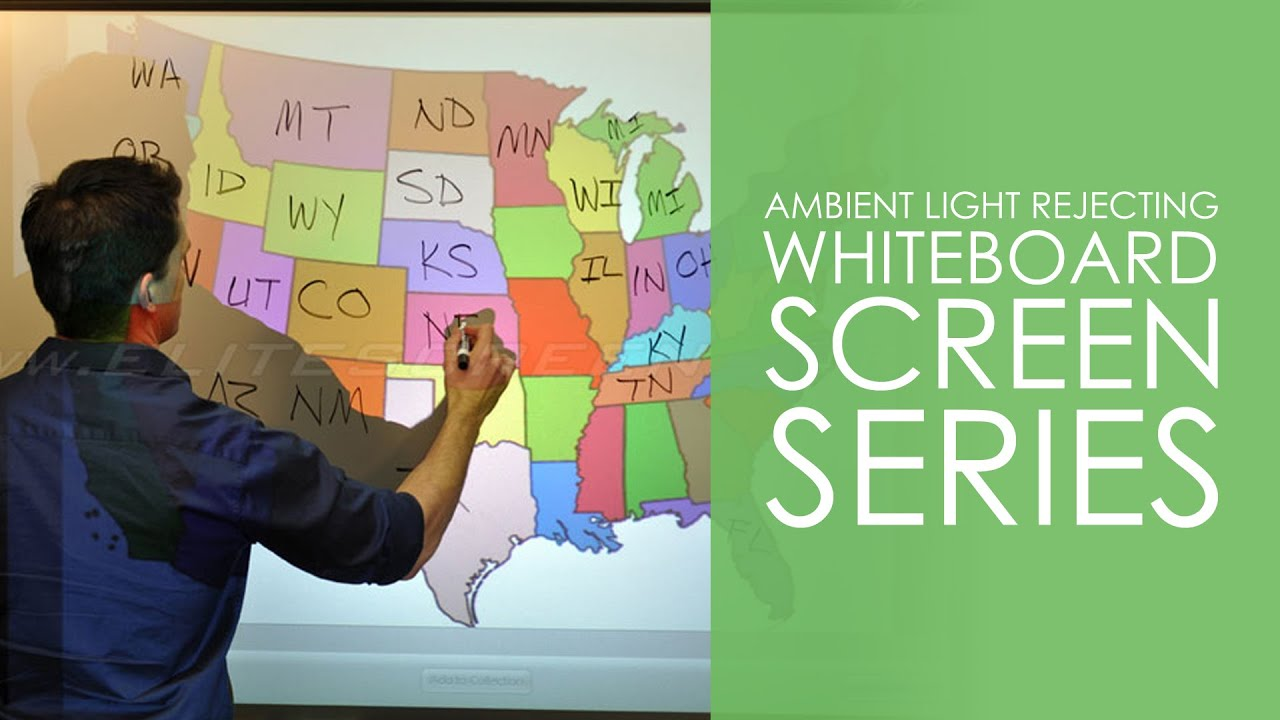 Ambient Light Rejecting WhiteBoardScreen™ Series