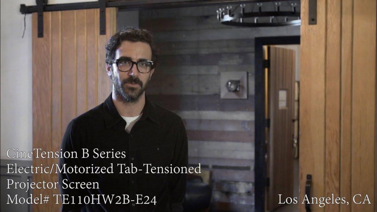 CineTension B Series Projection Screen - Customer Testimonial