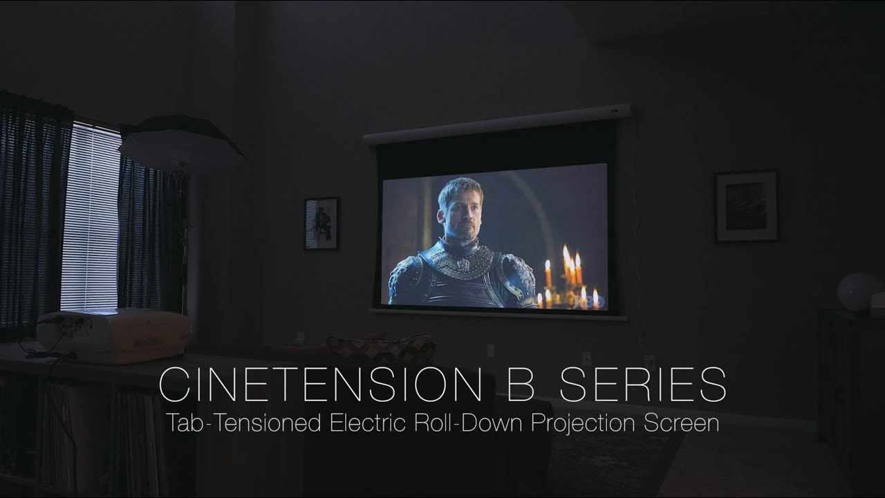 CineTension B Tab-Tensioned, Motorized Projection Screen