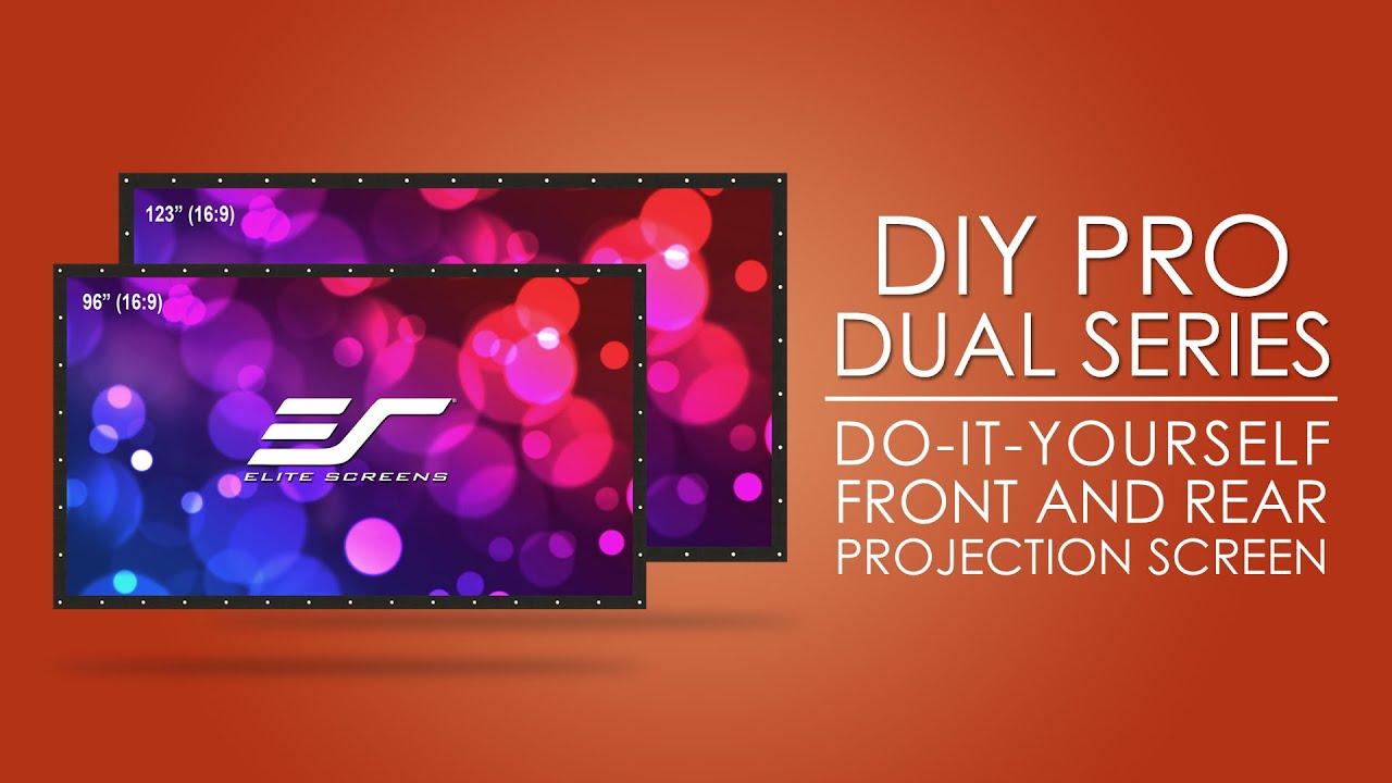 DIY Pro WraithVeil Dual Front/Rear Projection Screen Product Video