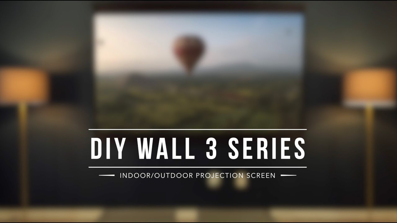 DIY Wall 3 Series Portable, Indoor/Outdoor Projection Screen Assembly Video