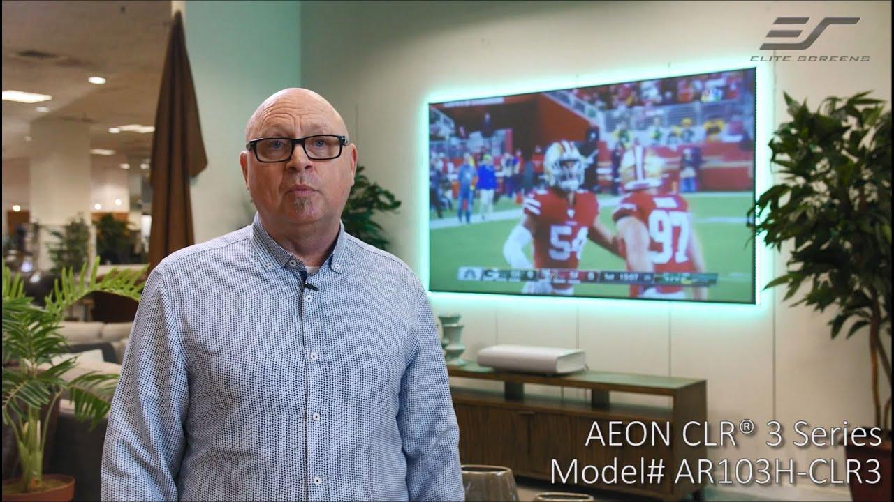 Elite Screens Aeon CLR® 3 at Design Center Furniture Testimonial | ALR/CLR® Fixed Frame Screen