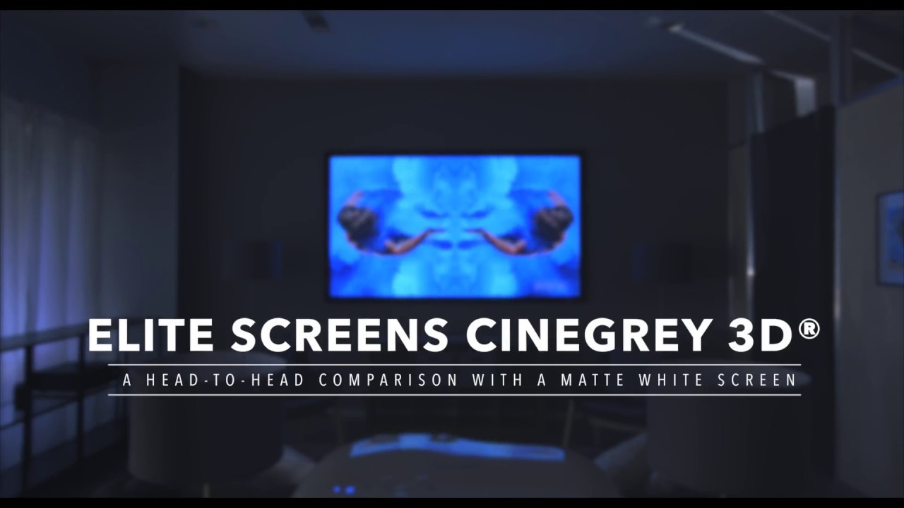 CineGrey 3D® Ceiling & Ambient Light Rejecting Screen Material vs. Matte White