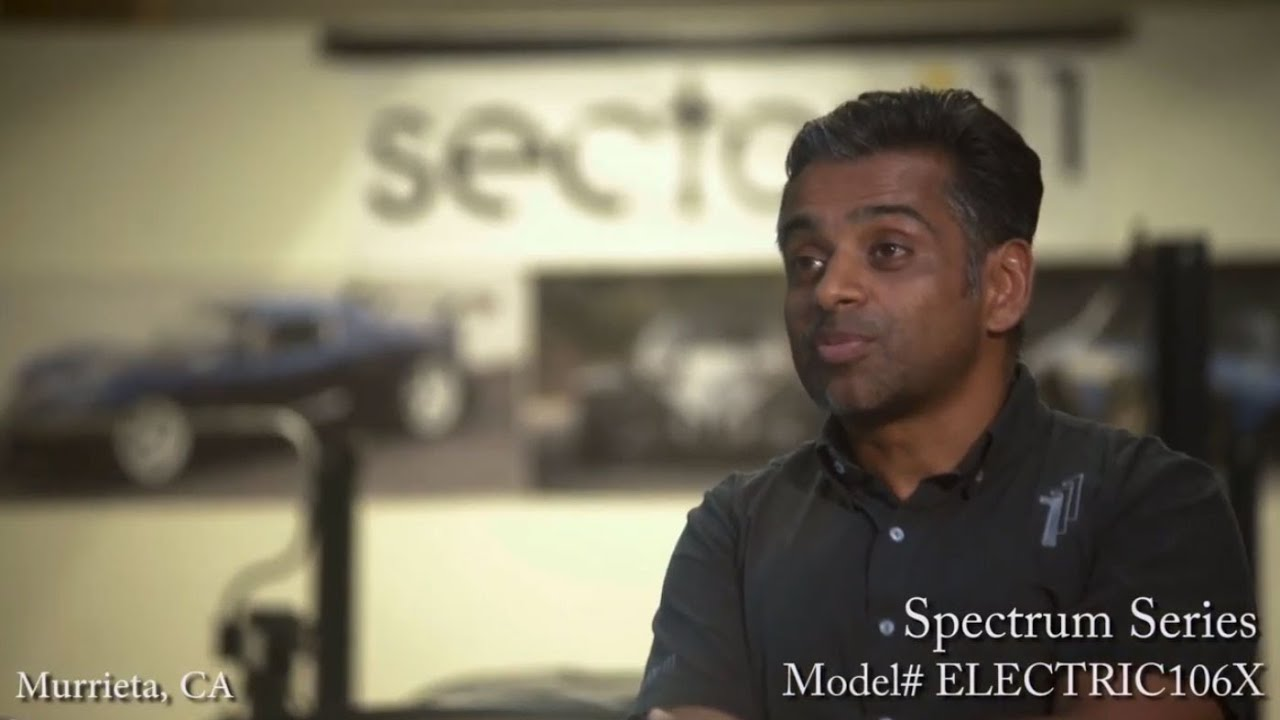 Elite Screens Customer, Sector 111, on the Spectrum 106X Projection Screen