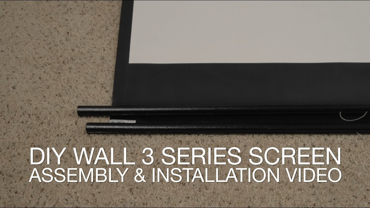 Elite Screens DIY Wall 3 Series Screen - Unboxing/Installation