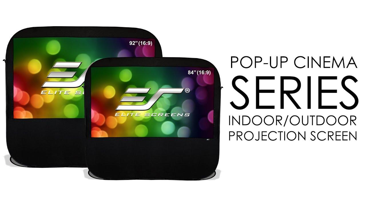 Elite Screens Pop-Up Cinema Series Indoor/Outdoor Projection Screen