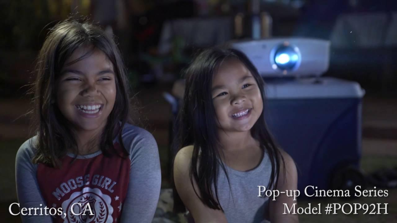 Elite Screens Pop-Up Cinema Series Indoor/Outdoor Projection Screen Assembly Video