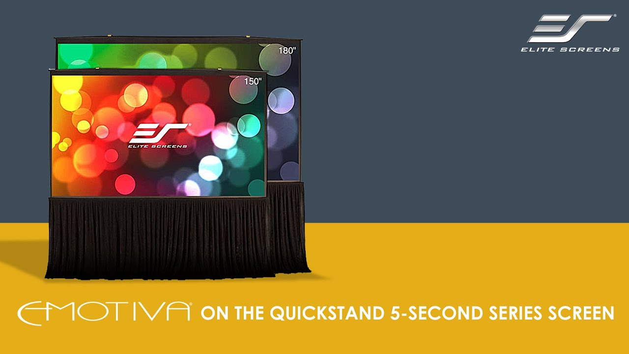 Emotiva Audio Corp. On The Elite Screens Quickstand 5-Second Series Screen
