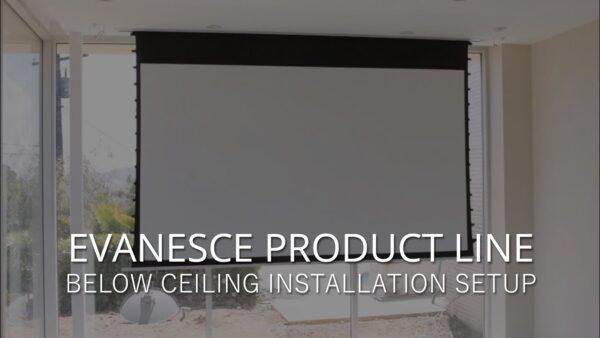 Evanesce (B)/Evanesce Tab-Tension (B) - Below Ceiling Installation