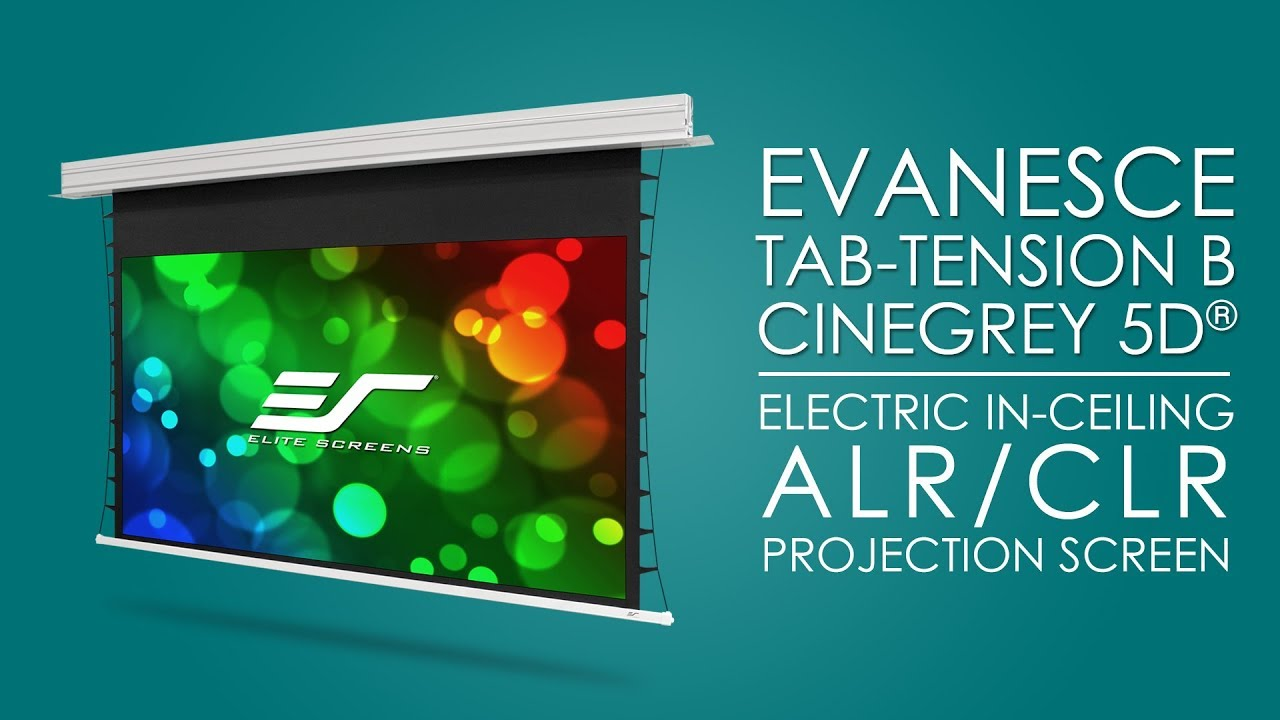 Evanesce Tab-Tension B CineGrey 5D®- Electric In-ceiling Ambient/Ceiling Light Rejecting Screen