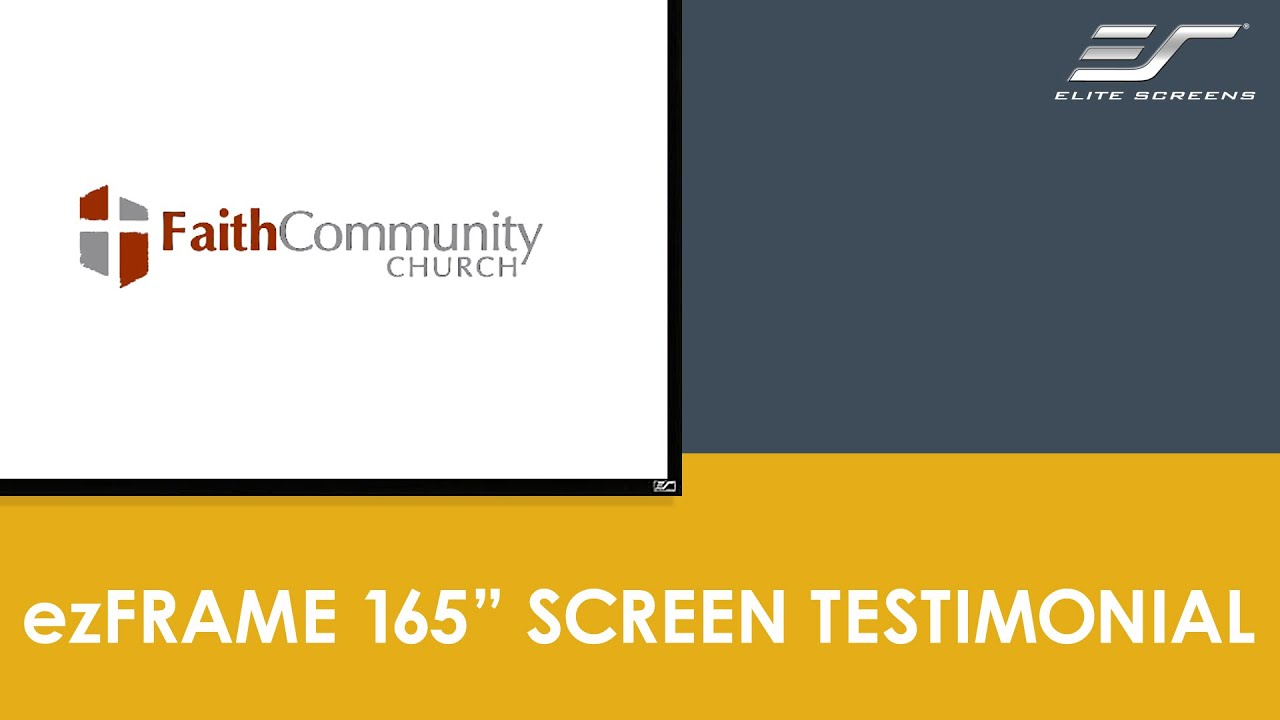 Faith Community Church in Carlsbad, Ca on Elite Screen\\\'s ezFrame Series Screen
