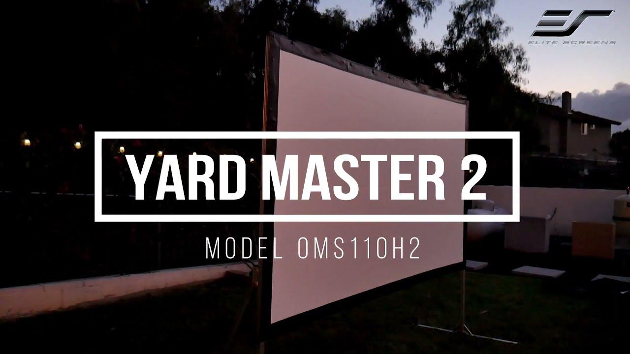 JoelsterG4K Reviews Elite Screens Yard Master 2 Series- Fast-folding Frame Outdoor Projection Screen