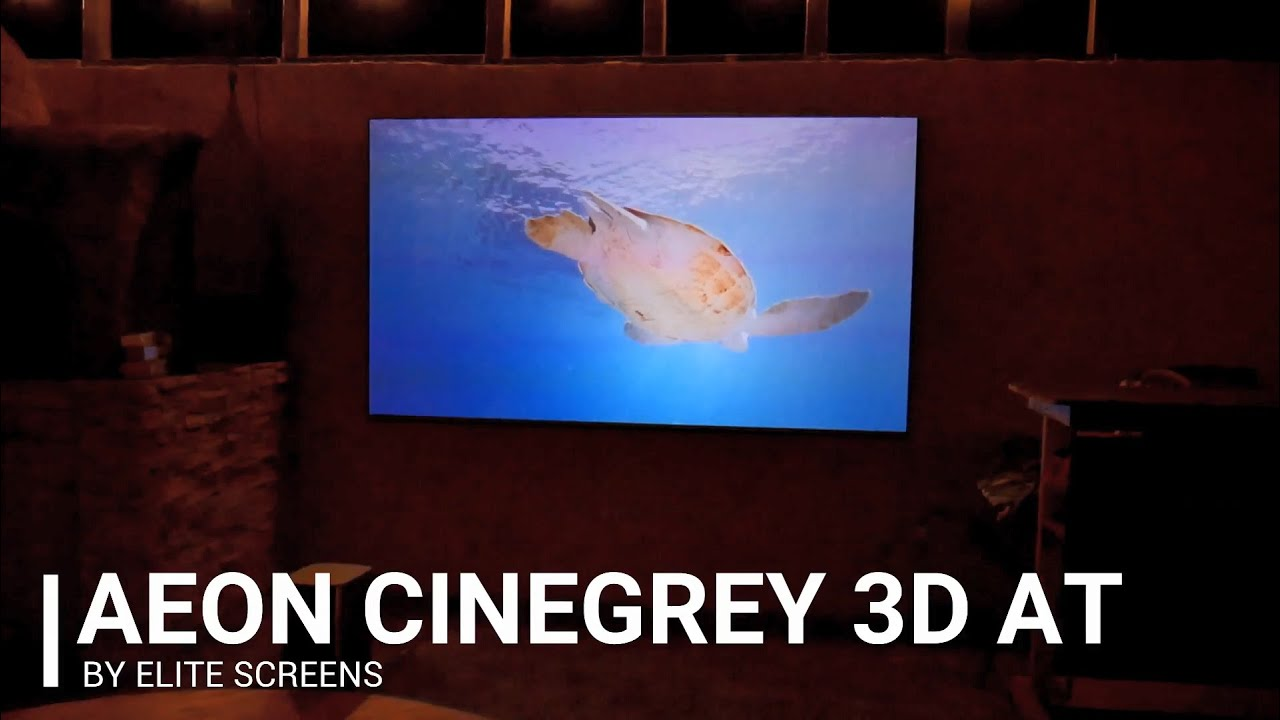 Joelster Reviews The Aeon CineGrey 3D® AT - ALR Acoustic Transparent Screen