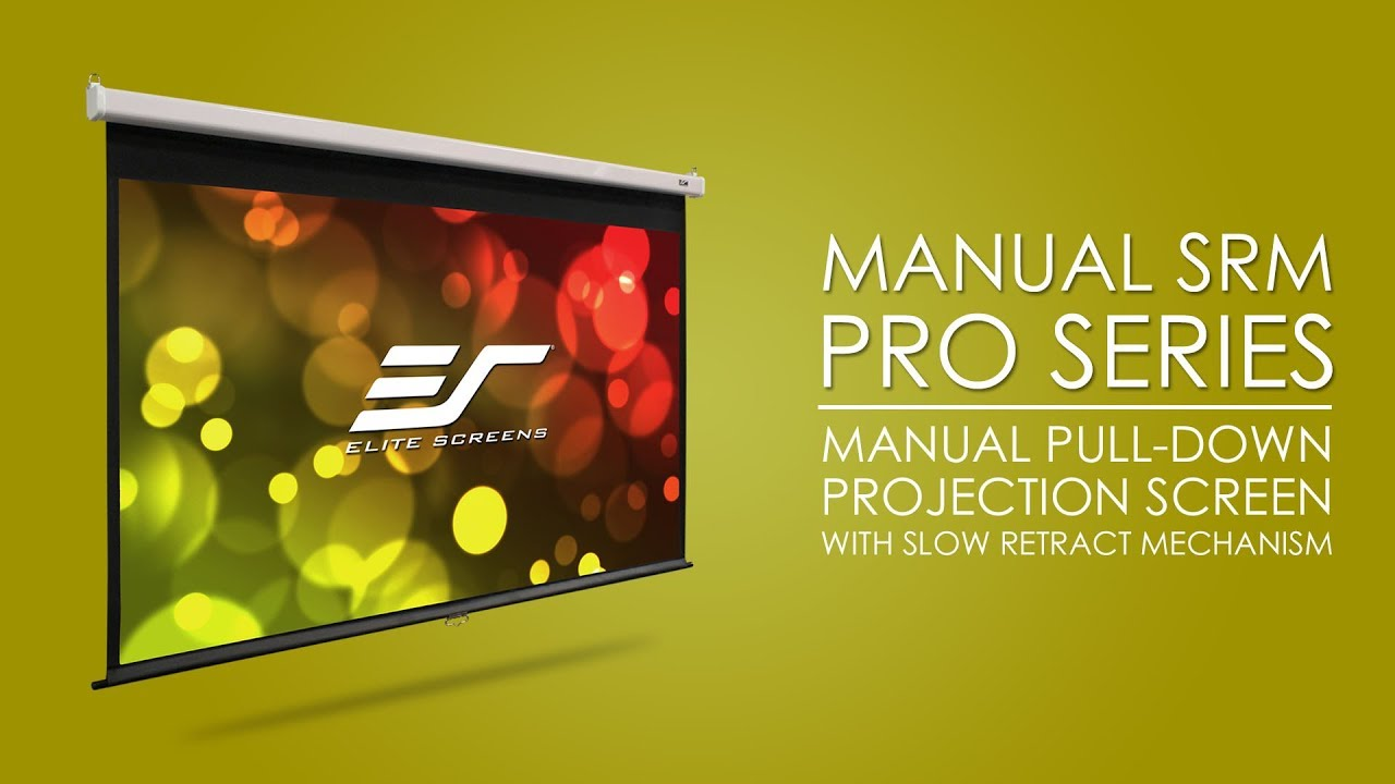 Manual SRM Pro Series - Manual Pull Down Projector Screen with Slow Retract Mechanism