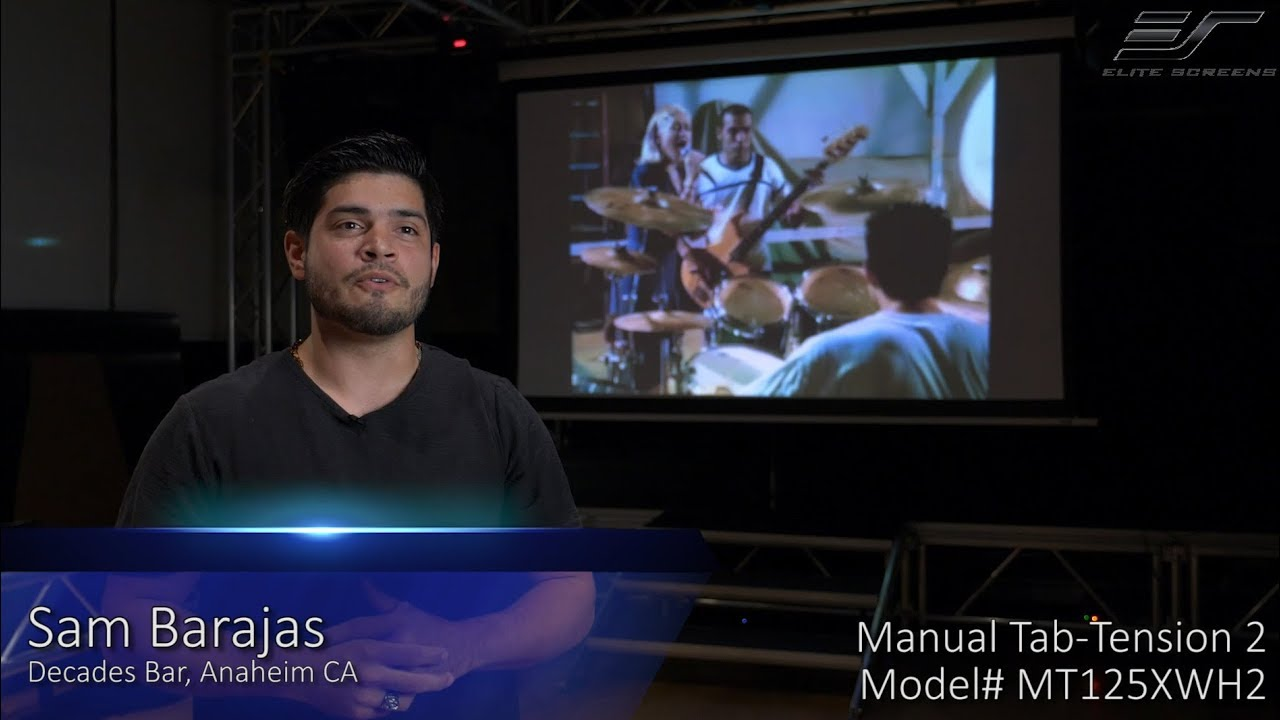 Manual Tab-Tension 2 Projection Screen Product / Testimonial