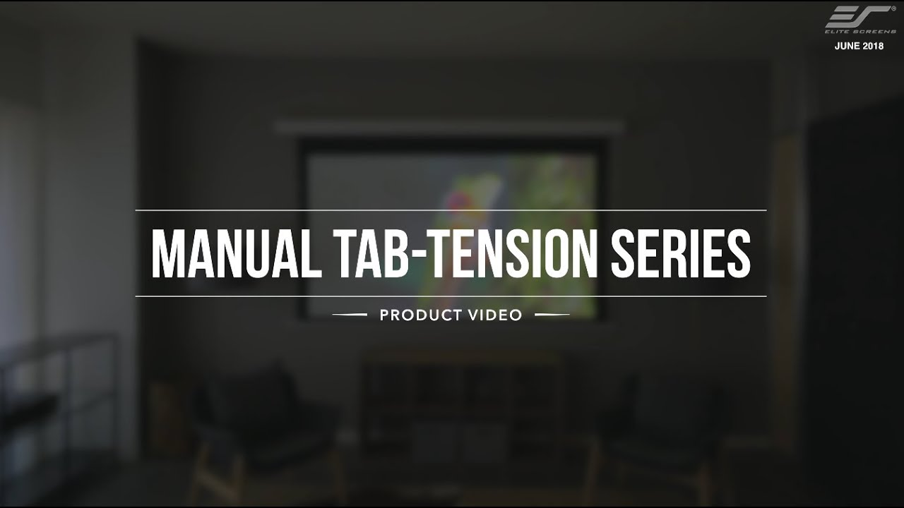Manual Tab-Tension Series Home Theater Projection Screen