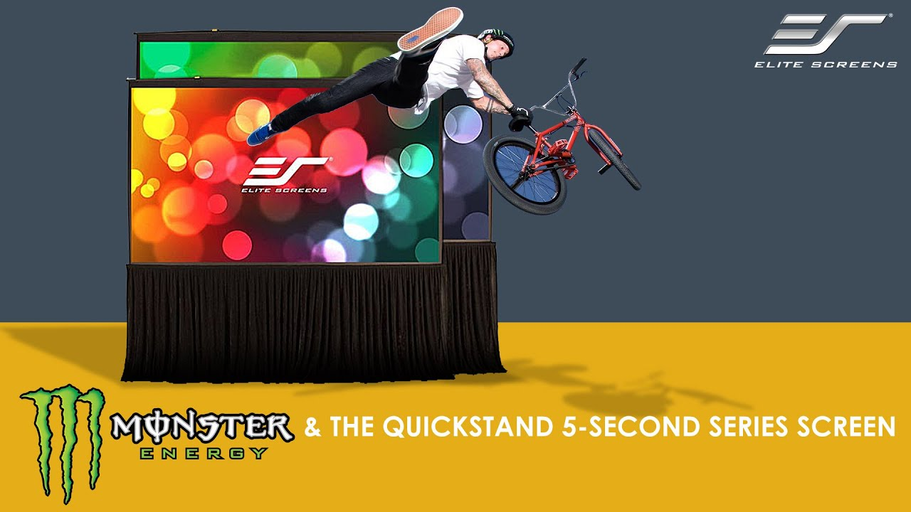 Monster Energy On Elite Screens Quickstand 5-Second Series Screen