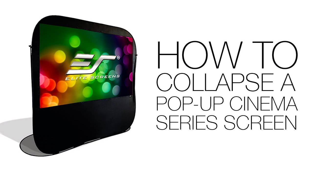 Pop-Up Cinema Series - Collapsing the Screen How To