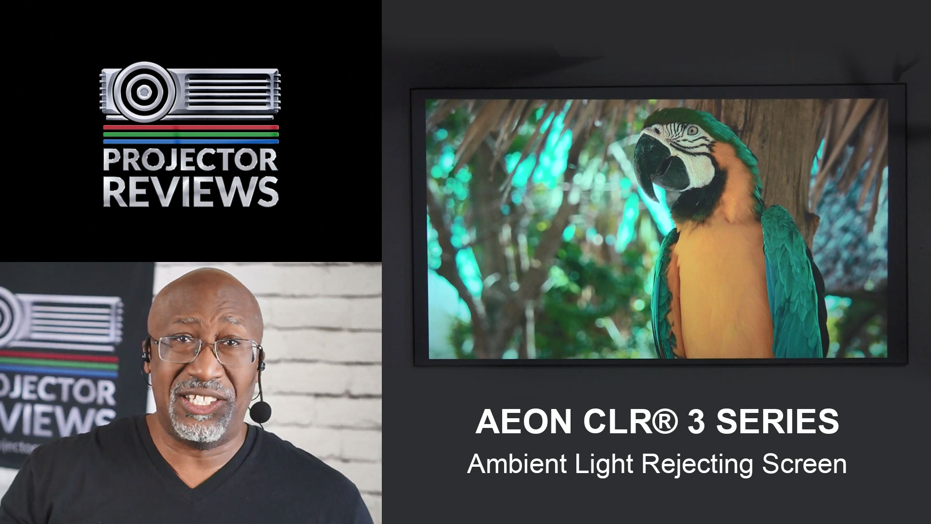 Phil Jones from Projector Reviews Evaluates the Elite Screens Aeon CLR® 3 Series