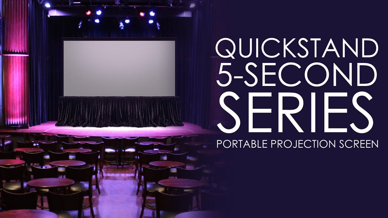 QuickStand 5-Second Series, Large Venue Portable Projection Screen