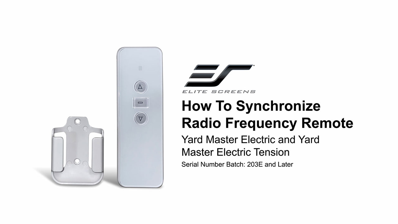 How to Synchronize RF Remote to Yard Master Electric Screens