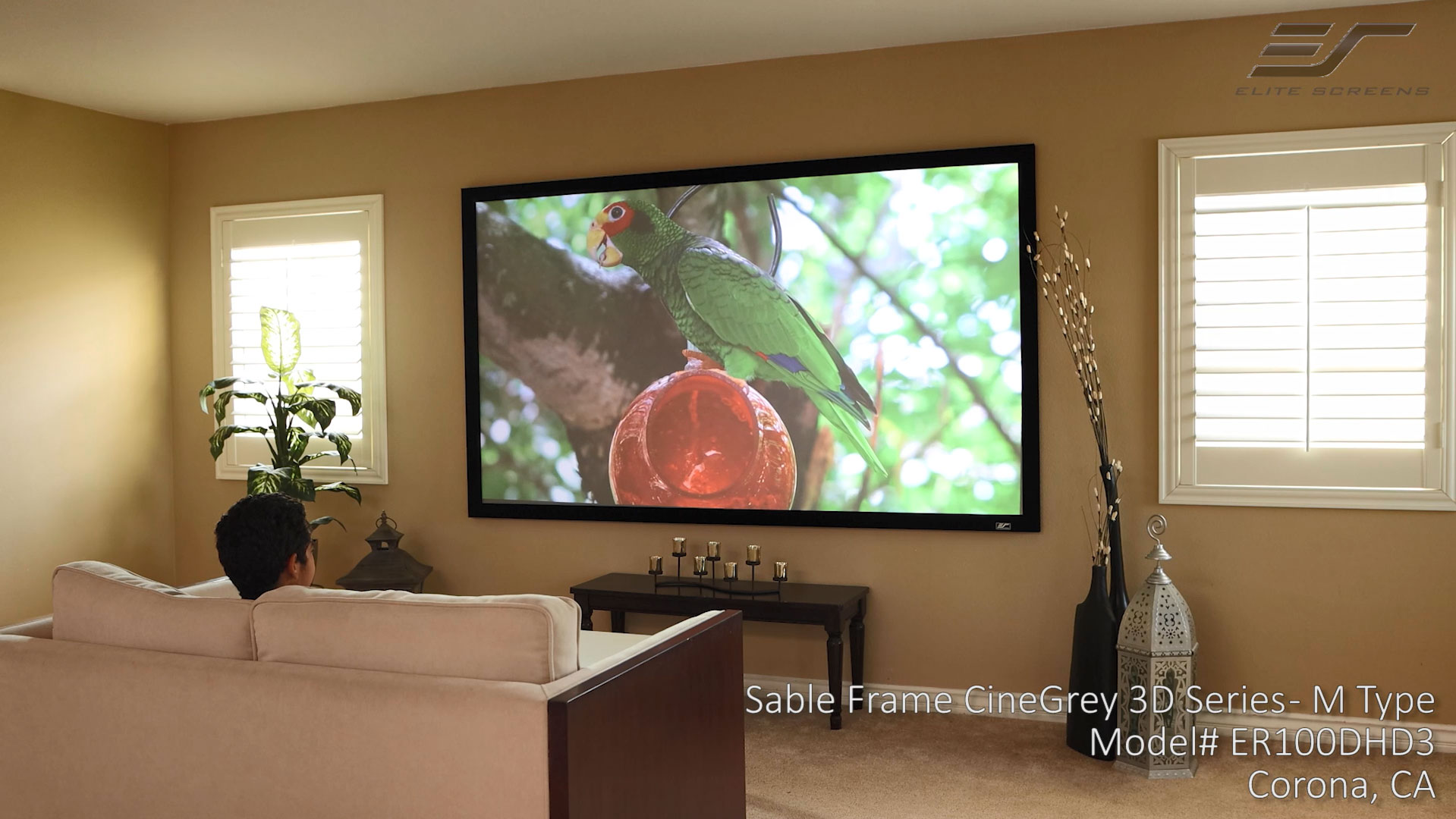 Sable Frame CineGrey 3D® Ambient Light Rejecting Screen - M Type
