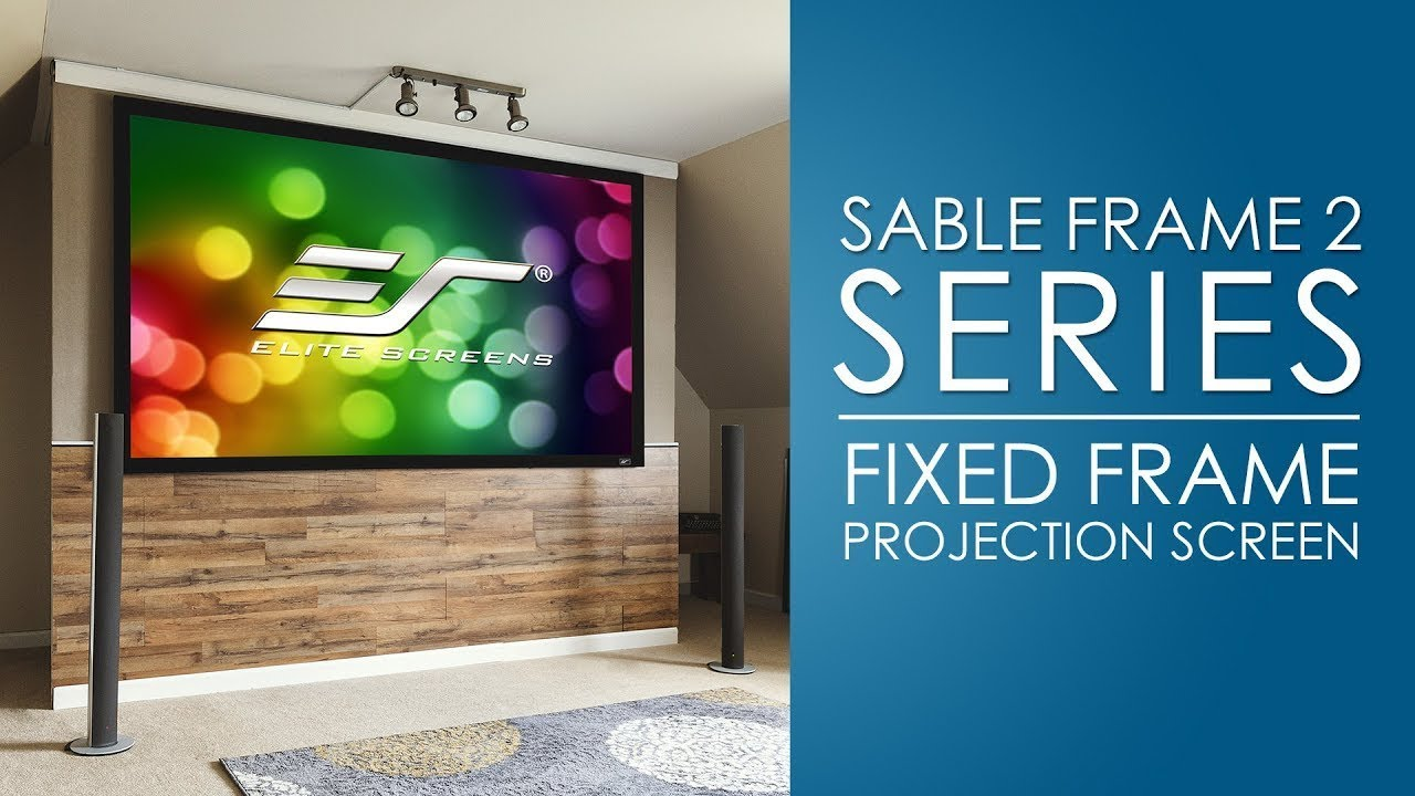 Sable Frame 2 Fixed Frame Projection Screen (Spanish)