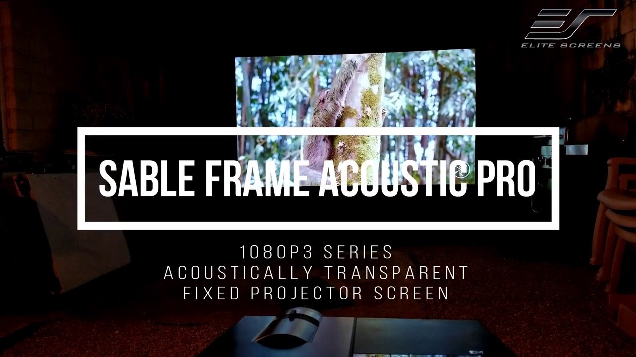 Sable Frame AcousticPro 1080P3 - Acoustic Transparent Fixed Projector Screen
