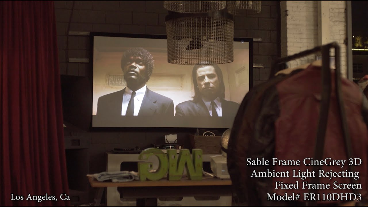 Sable Frame Series Screen Featuring CineGrey 3D Ambient Light Rejecting Material