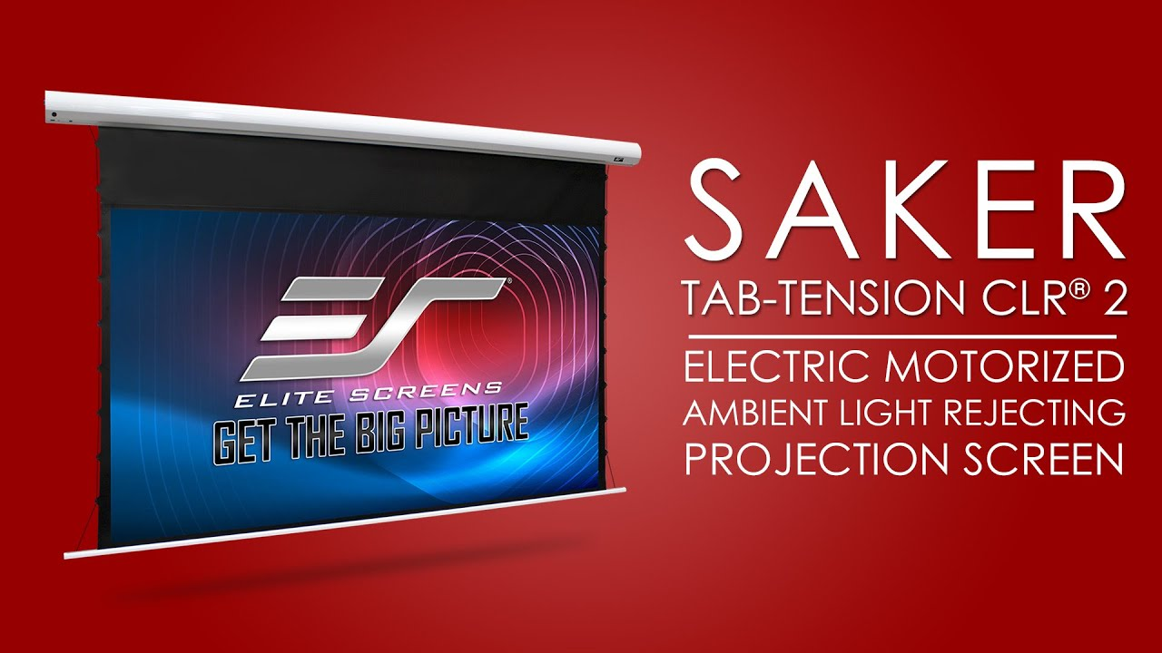 Saker Tab-Tension CLR® 2- Ambient Ceiling Light Rejecting Motorize Projection Screen