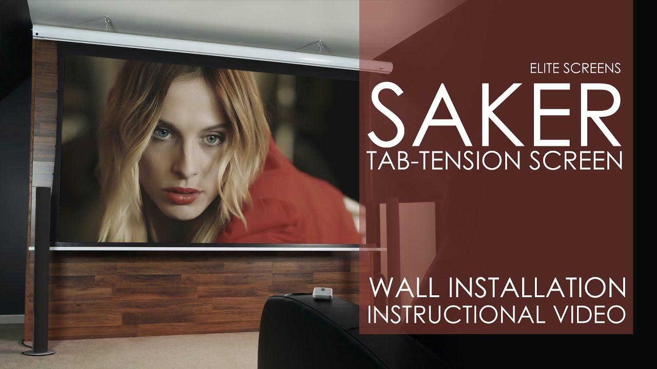 Saker Tab-Tension Wall Installation