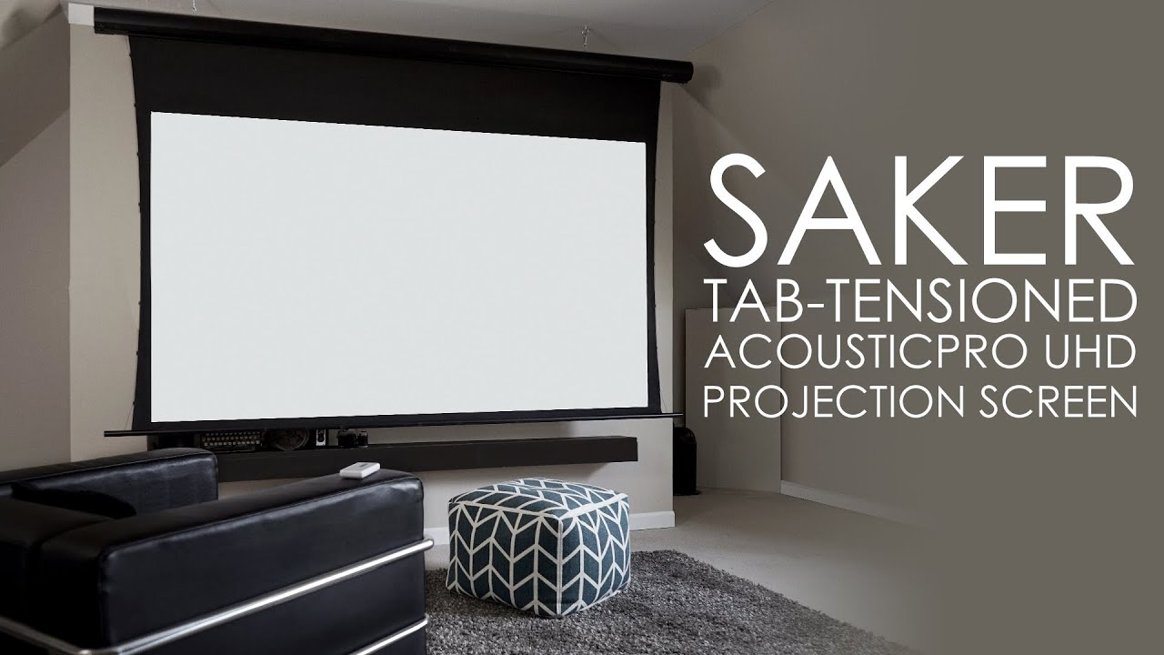 Saker Tab-Tensioned AcousticPro UHD Screen