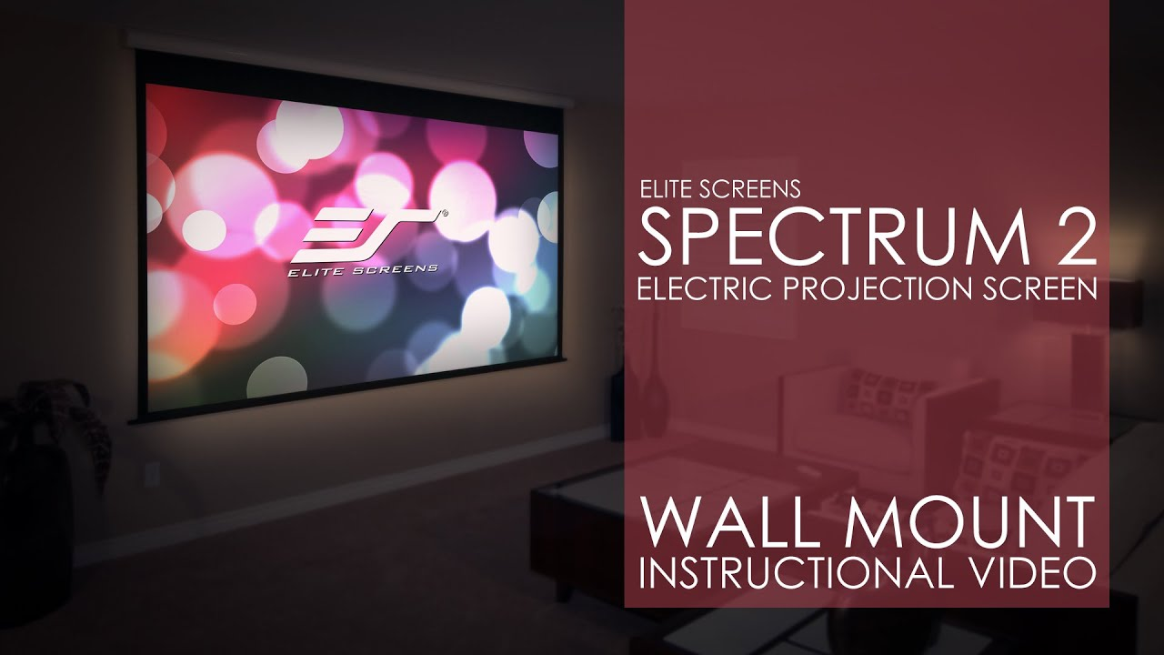 Spectrum2 Electric Projection Screen Wall Installation