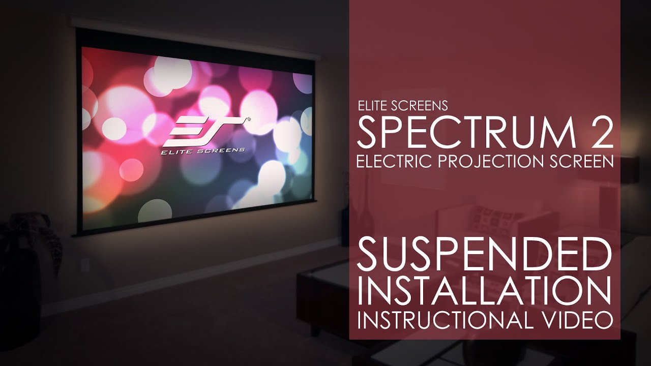 Spectrum2 Projection Screen Suspended Installation
