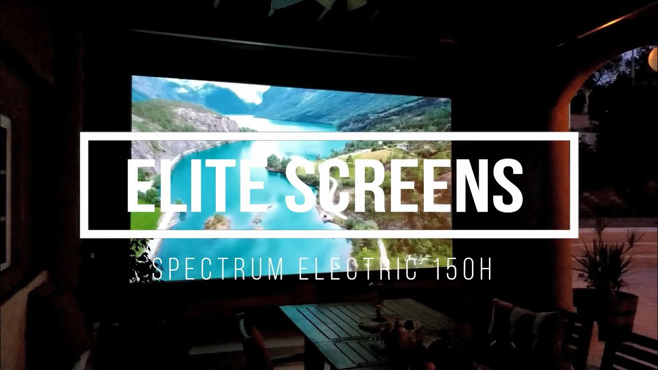 "Spectrum Series 150"" Electric Motorized Projection Screen 