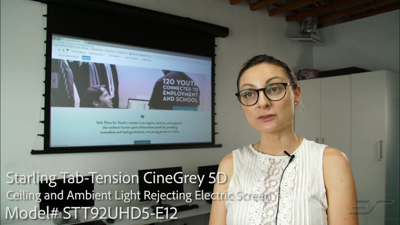 Starling Tab-Tension with CineGrey 5D® Screen Material - Client Testimonial