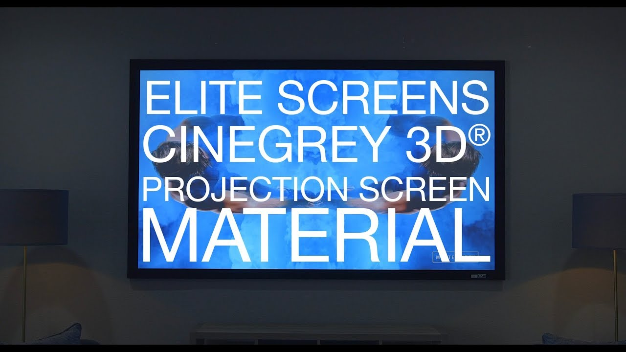 The BEST Projection Screen - CineGrey 3D® ISF Certified Projection Screen Material
