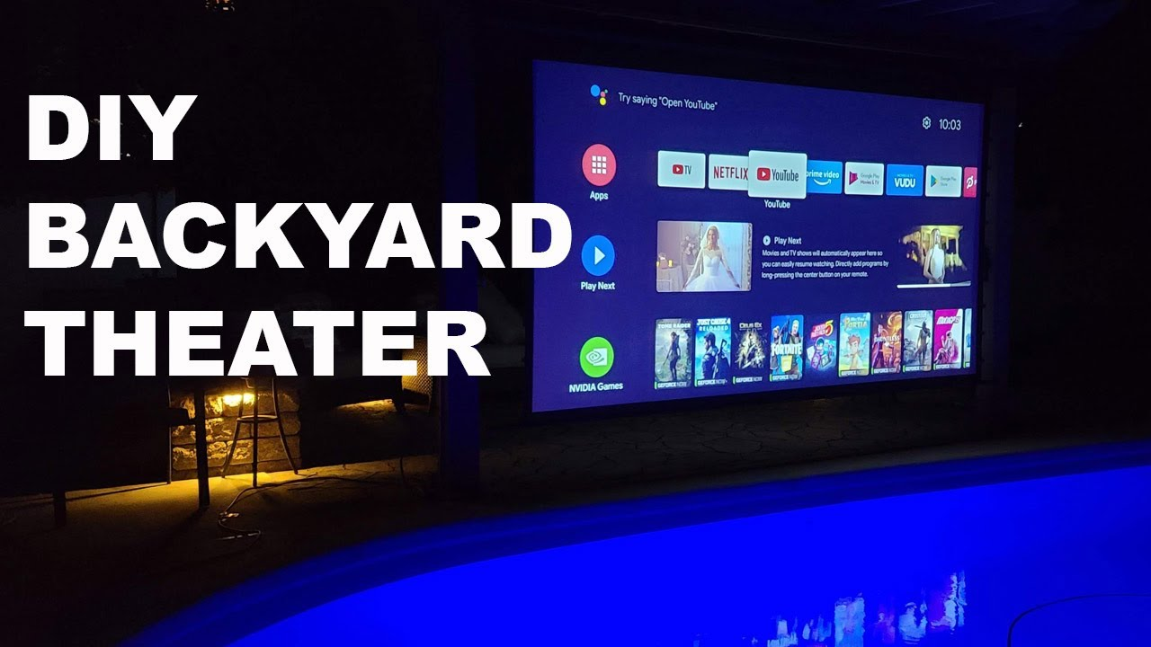 Turn Your Back Yard into an Outdoor Theater | Weatherproof Yard Master Electric Screen