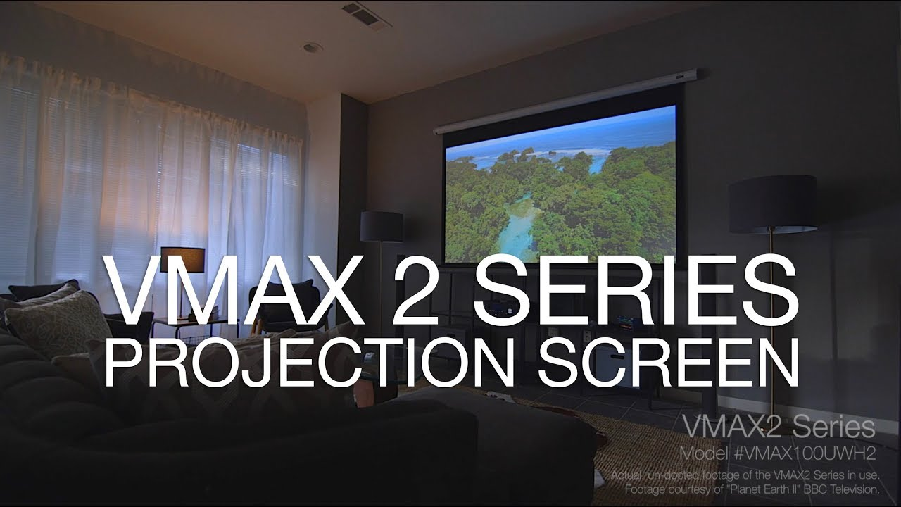 VMAX 2 Series Screen - A Simple. Effective. Projection Screen
